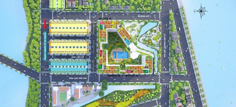 Mặt bằng tổng quan dự án chung cư City Gate 3 Quận 8