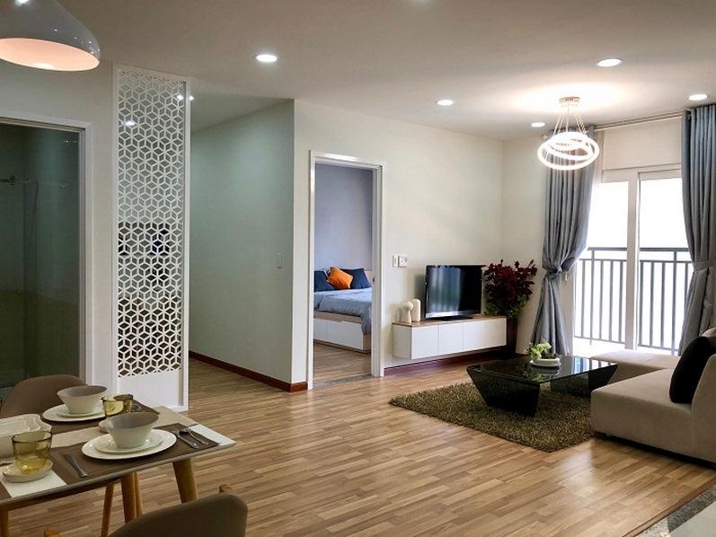 Phòng khách nhà mẫu City Gate 3 Quận 8