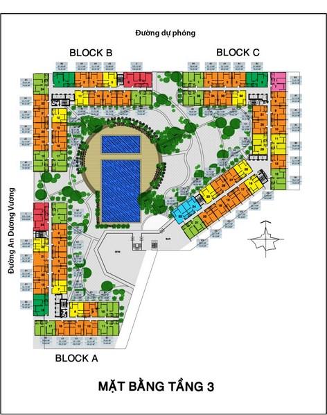 Mặt bằng tầng chung cư City Gate 3 Quận 8