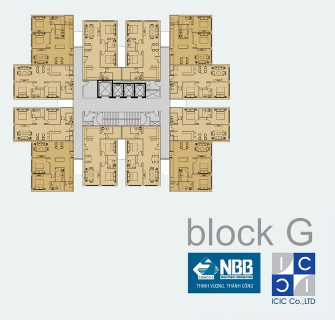 Mặt bằng Block G tại chung cư City Gate 3