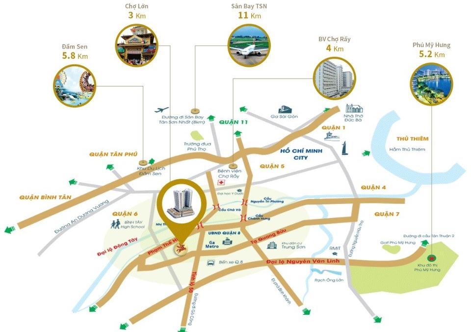 tiện ích ngoại khu dự án căn hộ city gate3, căn hộ city gate 3, city gate 3, can ho city gate 3 quan 8