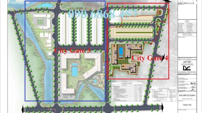 Mặt bằng dự án chung cư City Gate 4 Quận 8,chung cư city gate 4,du an city gate4
