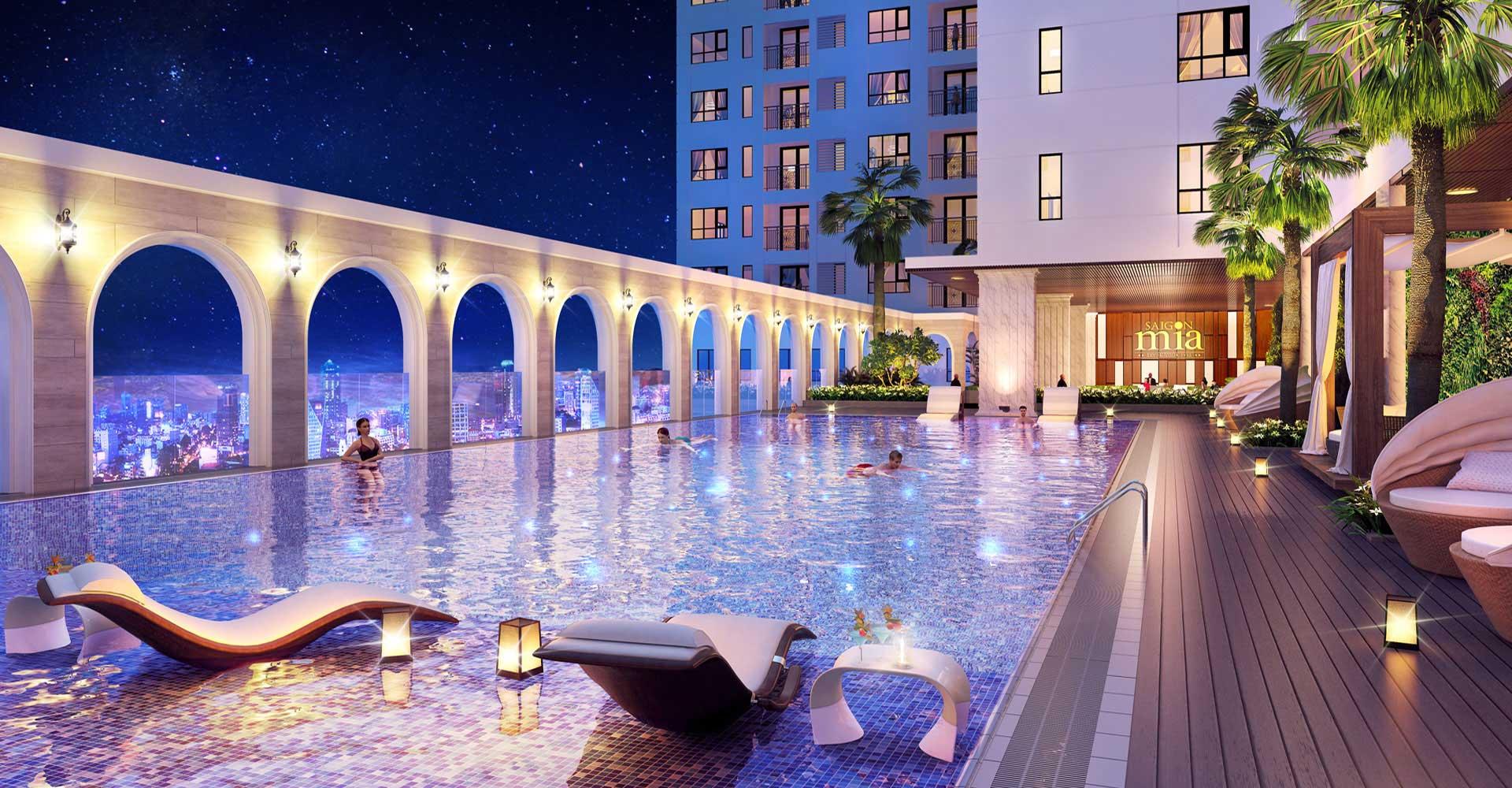 Khu Phức Hợp Nhà phố DỰ ÁN CĂN HỘ  CHUNG CƯ CITY GATE 3 QUẬN 8 Hồ Bơi Tiêu Chuẩn Resort